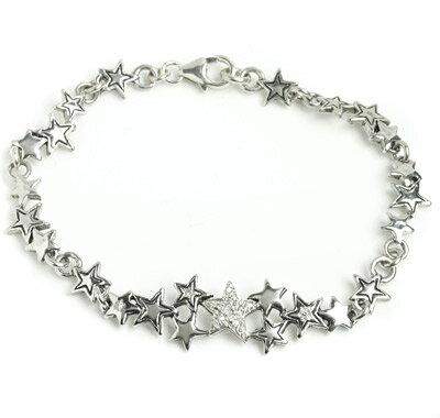 【ロイヤルオーダー ブレスレット】Starshine Constellation with Pave Diamonds(6-7inch)