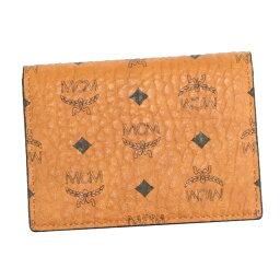 エムシーエム MCM エムシーエム 名刺入れ MXA7SVI20 2 FOLD CARD WALLET 二つ折り カードケース CAM CO001 コニャック キャメル メンズ プレゼント 女性 誕生日 男性 ギフト 彼氏 贈り物 彼女 入学祝 卒業祝い 就職祝い 韓国 ファッション