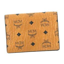 エムシーエム MCM エムシーエム MXC6AVI20 カードケース 名刺入れ CAMEL CO001 2 FOLD CARD WALLET キャメルブラウン
