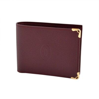 カルティエ Cartier L3001368 小銭入れ付 二つ折り財布 Must de Cartier wallet マスト ドゥ カルティエ ワレット メンズ レディース 本革 革 ブランド 新品