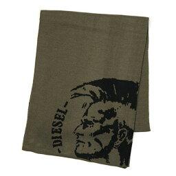 ディーゼル マフラー(メンズ) ディーゼル DIESEL マフラー メンズ ブランド 新作 カーキグリーン ブレイブマン刺繍 ミリタリーグリーン おしゃれ スカーフ 新品 K-DUBO