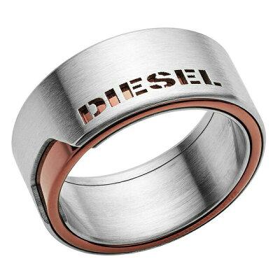 ディーゼル DIESEL DX1080040 カッティングロゴ メンズ リング 指輪 ブロンズ+シルバー ステンレス シンプル ブランド プレゼント ギフト バレンタイン ホワイトデー クリスマス