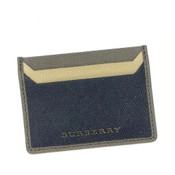 バーバリー 定期入れ(メンズ) バーバリー 名刺入れ カードケース レディース メンズ ブランド 人気 チェック BURBERRY 牛革 レザー カーフ 定期入れ