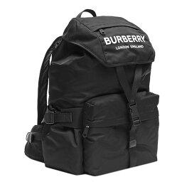 バーバリー マザーズバッグ バーバリー BURBERRY リュックサック 8010608 BACKPACK ロゴプリント ナイロン バックパック BLACK ブラック