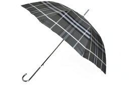 バーバリー 傘(レディース) バーバリー 傘 雨傘 長傘 ジャンプ レディース ブランド BURBERRY チェック 収納 ケース付 黒 ブラック × グレー 60cm 女性 婦人 x1x 【あす楽】