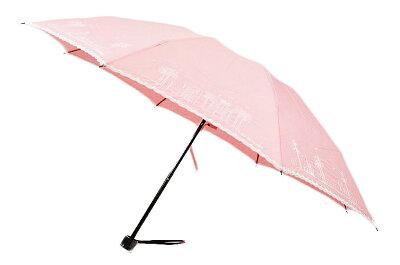 ルルギネス 折りたたみ 日傘 傘 LULU GUINNESS デザイン 刺繍 × ピンキング ピンク | レディース 女性 ブランド UV 晴雨兼用 折りたたみ傘 x1x 【あす楽】