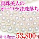 あこや真珠 オーロラ花珠落ち あこや真珠 8-8.5mm (アコヤ真珠)★パール