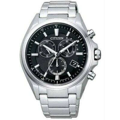 シチズン アテッサ AT3050-51E CITIZEN ATTESA クロノグラフ エコ・ドライブ 電波時計 ブラック メンズ腕時計 【長期保証5年付】