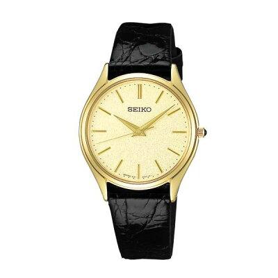 セイコー ドルチェ SACM150 SEIKO DOLCE 薄型 クオーツ腕時計 ワニ革ベルト メンズ 【長期保証5年付】