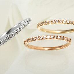 指輪 【セミオーダー】ダイヤモンド エタニティリング 指輪 レディース ニッケルフリー 10金ゴールド 地金カラー全3色 1号から20号 c18148 jk100 K10(スーパーSALE)