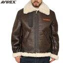 アヴィレックス AVIREX アヴィレックス 2104 B-3 シープスキン レザージャケット BROWN avirex アビレックス/メンズ/ミリタリー/ジャケット/正規品 送料無料 アビレックス AVIREX 055 mss WIP