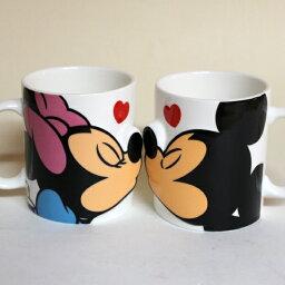ミッキーマグカップ 【ラッピング無料】ミッキーマウス&ミニーマウス ペアマグ/キス マグカップセット