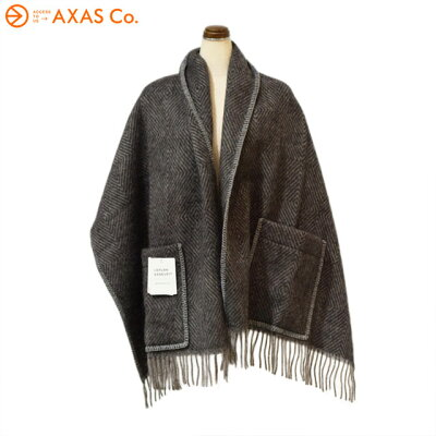 【plokh】 Lapuan Kankurit(ラプアン カンクリ) MARIA pocket shawl Col.black-grey