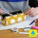 がま口 AYANOKOJI ペンケース 【在庫商品】TAWARA型がま口ペンケース【帆布・唐草 水玉】がまぐち がま口 がま口ペンケース がま口筆箱 筆箱 ペンケース がま口 ギフト