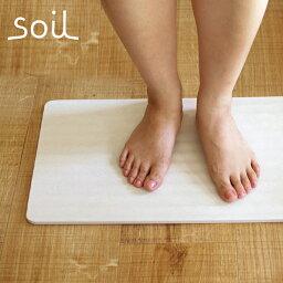 soil  珪藻土  自然素材〜珪藻土(けいそうど)でつくられた〜Soil BATH MAT wave(ソイル バスマットウェーブ)