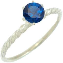 ティファニー セッティング 指輪 ブルースピネルシックスポイントシルバーリング(指輪)