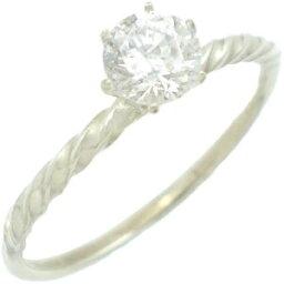 ティファニー セッティング 指輪 クリアキュービックシックスポイントシルバーリング(指輪)