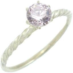 ティファニー セッティング 指輪 ラベンダーキュービックシックスポイントシルバーリング(指輪)