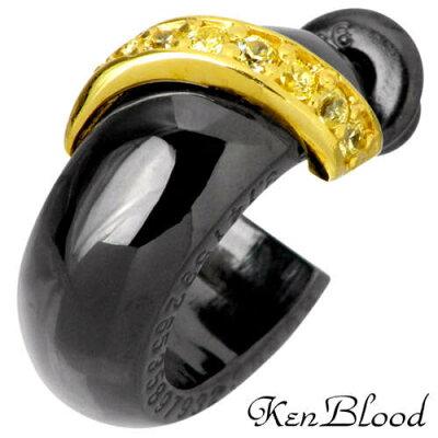 KEN BLOOD【ケンブラッド】 スパイラル シルバー ピアス 1個売り キュービック CZ 片耳用 シルバーアクセサリー シルバー925 KB-KP-255