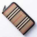 バーバリー BURBERRY 長財布 財布 メンズ レディース エルモア ヴィンテージチェック アーカイブベージュ&ブラック LS ELMORE 8030448 A7026