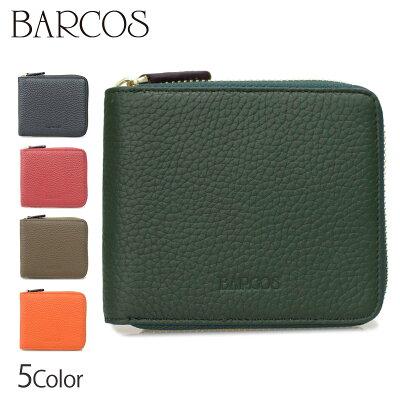 BARCOS シュリンクレザー ラウンドジップスモールウォレット レディース 全1色 ONESIZE バルコス