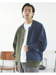 ビームス [Rakuten Fashion]Champion × BEAMS / 別注 スナップ スウェット ジャケット BEAMS MEN ビームス メン カットソー スウェット【送料無料】