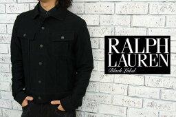 ラルフローレン BLACK LABEL by Ralph Lauren  ラルフローレン ブラックレーベル ライダース タイプ コットン ジャケット/BLACK  あす楽