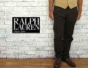 ラルフローレン BLACK LABEL by Ralph Lauren  ラルフローレン ブラックレーベル イタリア製 センター プレス パンツ/BROWN  あす楽