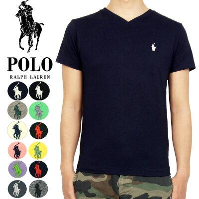 POLO by Ralph Lauren ラルフローレン ワンポイント ポニー Vネック Tシャツ