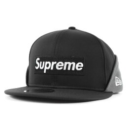 シュプリーム Supreme シュプリーム キャップ 20AW NEW ERA WINDSTOPPER BOXロゴ ベースボールキャップ Earflap Box Logo ブラック 7 1/2(59.6cm) 【メンズ】【K3106】