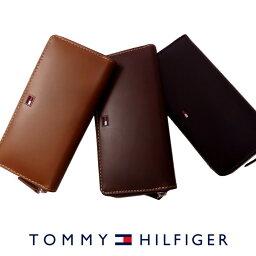 トミーヒルフィガー 財布(メンズ) 【メール便対応可】【送料無料】【トミーヒルフィガー ラウンドファスナー 長財布 31TL13X010】【ip-0287】TOMMY HILFIGER トミー メンズ 財布 ウォレット サイフ レザ 父の日 ギフト プレゼント