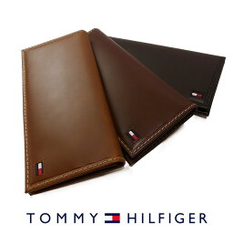 トミーヒルフィガー 財布(メンズ) トミーヒルフィガー 二つ折り 長財布 ブラック ブラウン タン 31TL19X013 TOMMY HILFIGER トミー メンズ 財布 ウォレット サイフ レザー 本革 ギフト プレゼント