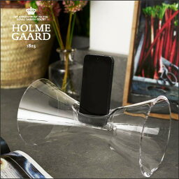 ホルムガード ホルムガード HOLMEGAARDURANIA Clear ウラニア クリア4343701 吹きガラスアコースティックサウンドアンプiPhon4,5,6 対応 アンプアンプ オーディオ【 送料無料 】