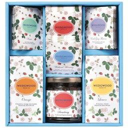 ウェッジウッドの紅茶ギフト ウェッジウッド ワイルドストロベリー 紅茶(ティーバッグ)とジャムとショートブレッドのギフトセット 【同梱不可】