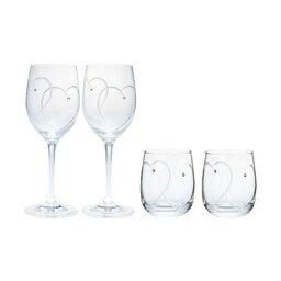 ウェッジウッド ウェッジウッド プロミシス 『トゥー ハーツ』 ワイン&タンブラーグラス ペアギフトセット