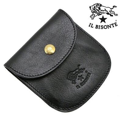 イルビゾンテ IL BISONTE コインケース 小銭入れ ブラック メンズ レディース イルビゾンテ IL BISONTE C0431P-153