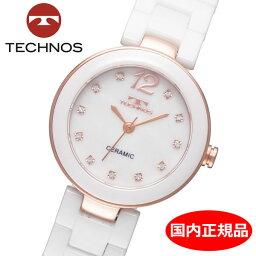 テクノス 【テクノス】 TECHNOS 腕時計 レディース セラミック TSL613PW