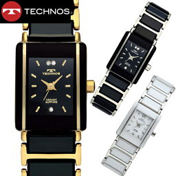 テクノス 【テクノス】 TECHNOS 腕時計 レディース セラミック&ステンレススチール製 TSL906【送料無料】