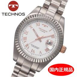 テクノス 【テクノス】 TECHNOS 腕時計 レディース チタン製 TSL915IW