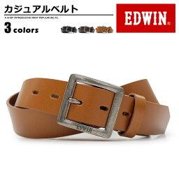 エドウィン エドウィン EDWIN ベルト カジュアル メンズ 本革 ブランドロゴ ブラック/ダークブラウン/ブラウン 幅30mm 0110938