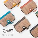 VARCO キーケース メンズ VARCO REAL WOOD ヴァーコリアルウッド キーカードコインケース / ウッド 木 木製 レザー 本革 革 キーケース コインケース 日本製 国産 ユニセックス 本物の木 コインケース付きキーケース