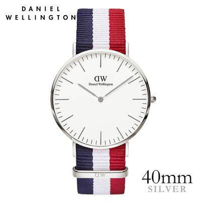 ダニエルウェリントン 40mm Daniel Wellington ケンブリッジ シルバー メンズ 腕時計
