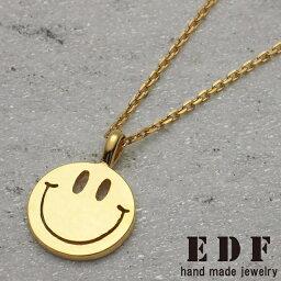 イーディーエフ イーディーエフ【EDF】70's smile スマイル ペンダント ゴールドコーティング
