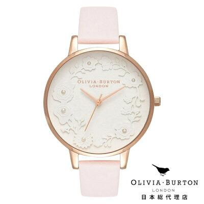 オリビアバートン レディース 時計 腕時計 Olivia Burton アティズンダイヤル ブロッサム & ローズゴールド 新作