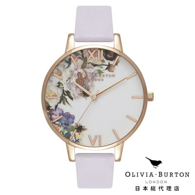 オリビアバートン レディース 時計 腕時計 Olivia Burton エンチャントガーデン パルマ バイオレット & ローズゴールド 新作