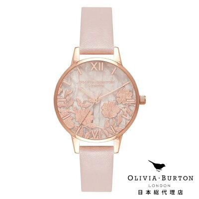 オリビアバートン レディース 時計 腕時計 Olivia Burton レースディティール ローズクォーツ ヴィーガン ローズサンド & ローズゴールド 新作
