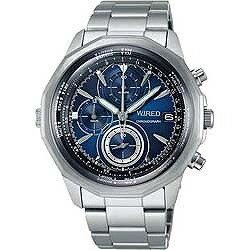 セイコー アルバ 腕時計(メンズ) 【送料無料】 アルバ WIRED(ワイアード) 「ザ・ブルー クロノグラフモデル」 AGAW419