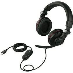 バッファロー BUFFALO バッファロー BSHSUH05BK ゲーミングヘッドセット ブラック [USB / 両耳 / ヘッドバンドタイプ]