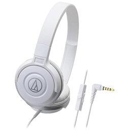オーディオテクニカ オーディオテクニカ audio-technica ヘッドホン WH ホワイト ATH-S100IS [リモコン・マイク対応 /φ3.5mm ミニプラグ][ATHS100ISWH]