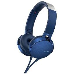 ソニー ソニー SONY ヘッドホン ブルー MDR-XB550AP [リモコン・マイク対応 /φ3.5mm ミニプラグ][MDRXB550APLC]